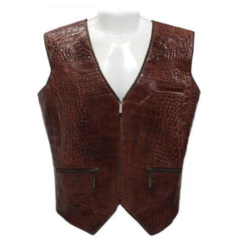 Crocodile Leather Men's Jackets S1141a
