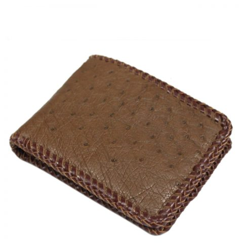 Ostrich Leather Wallet E404a