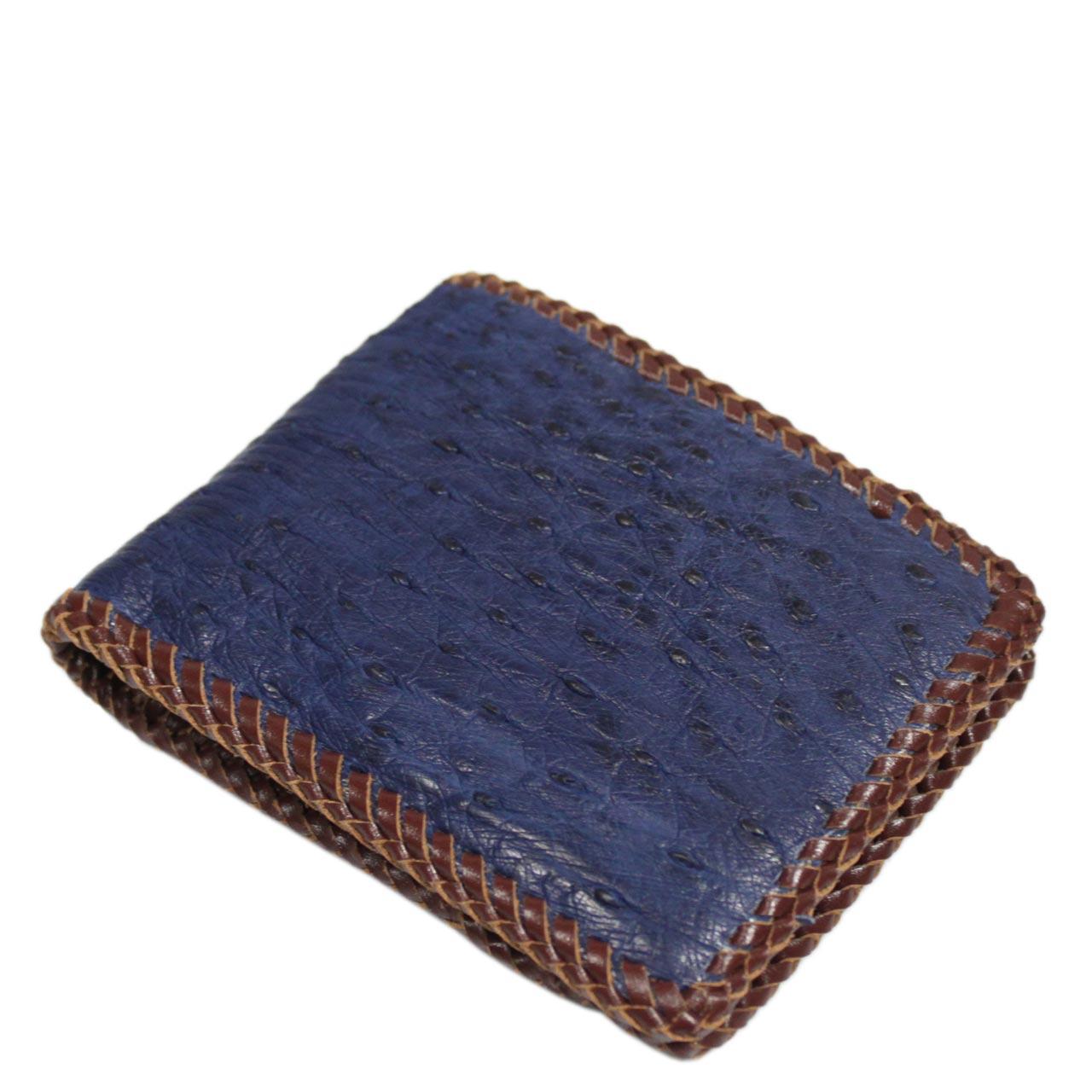 Ostrich Leather Wallet E404c