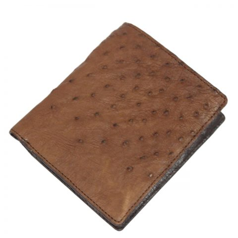 Ostrich Leather Wallet E405a