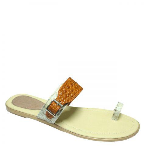 Crocodile Leather Slippers S701b