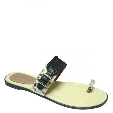 Crocodile Leather Slippers S701c