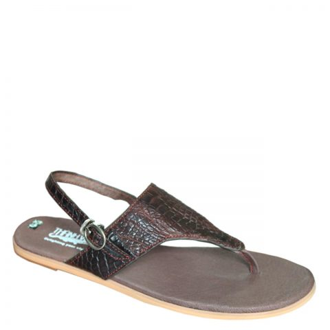 Crocodile Leather Slippers S702a
