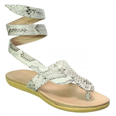 Python Leather Slippers T704