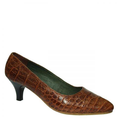 Crocodile Leather High Heels S774a