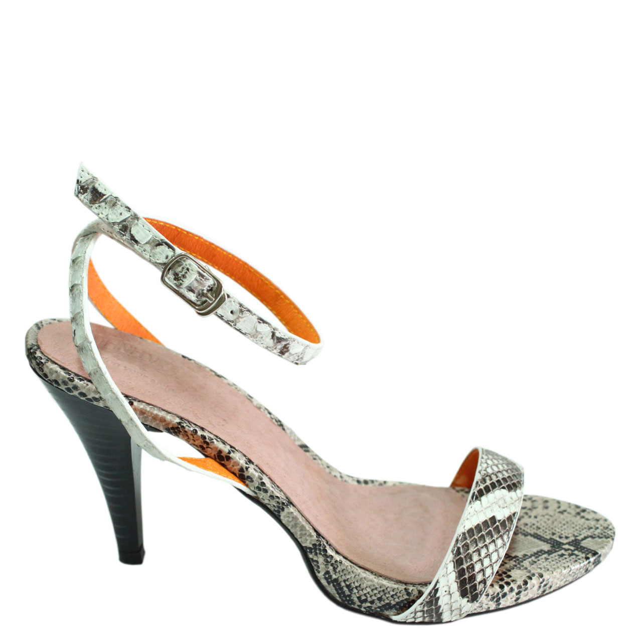 Python Leather High Heels T771