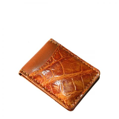 Crocodile Leather Money Clip S941f