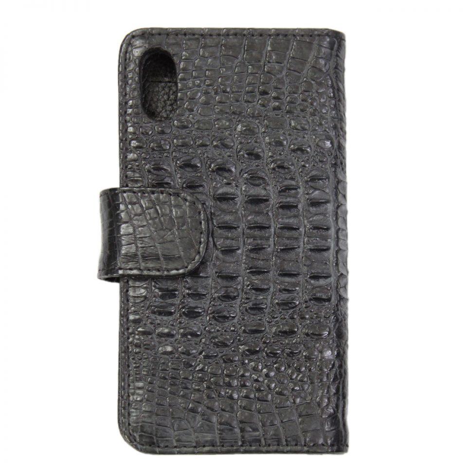 Ốp điện thoại dạng sổ iPhone X/Xs da cá sấu S1041a