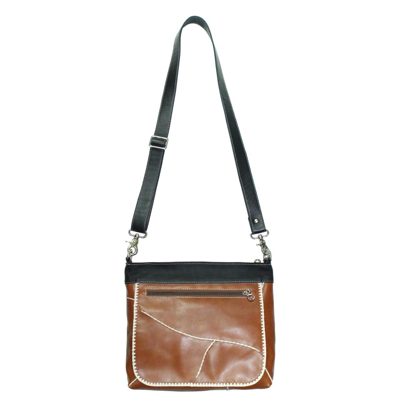 Cow Leather Crossbody Bag B121a
