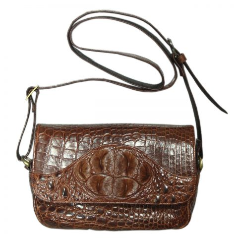 Crocodile Leather Crossbody Bag S124a