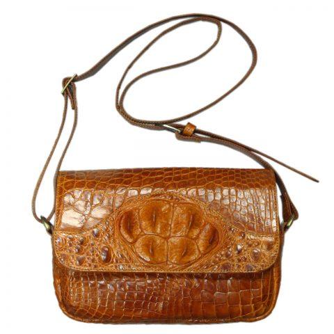 Crocodile Leather Crossbody Bag S124b