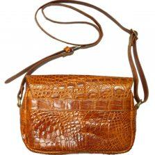 Túi đeo chéo nữ da cá sấu S124b