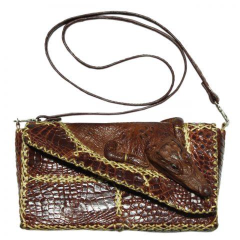 Crocodile Leather Crossbody Bag S126a
