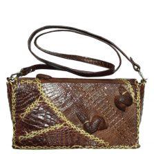 Túi đeo chéo nữ da cá sấu S126a