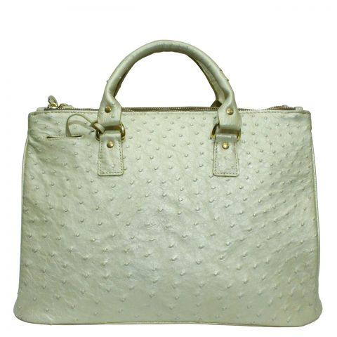 Ostrich Leather Handbag E010