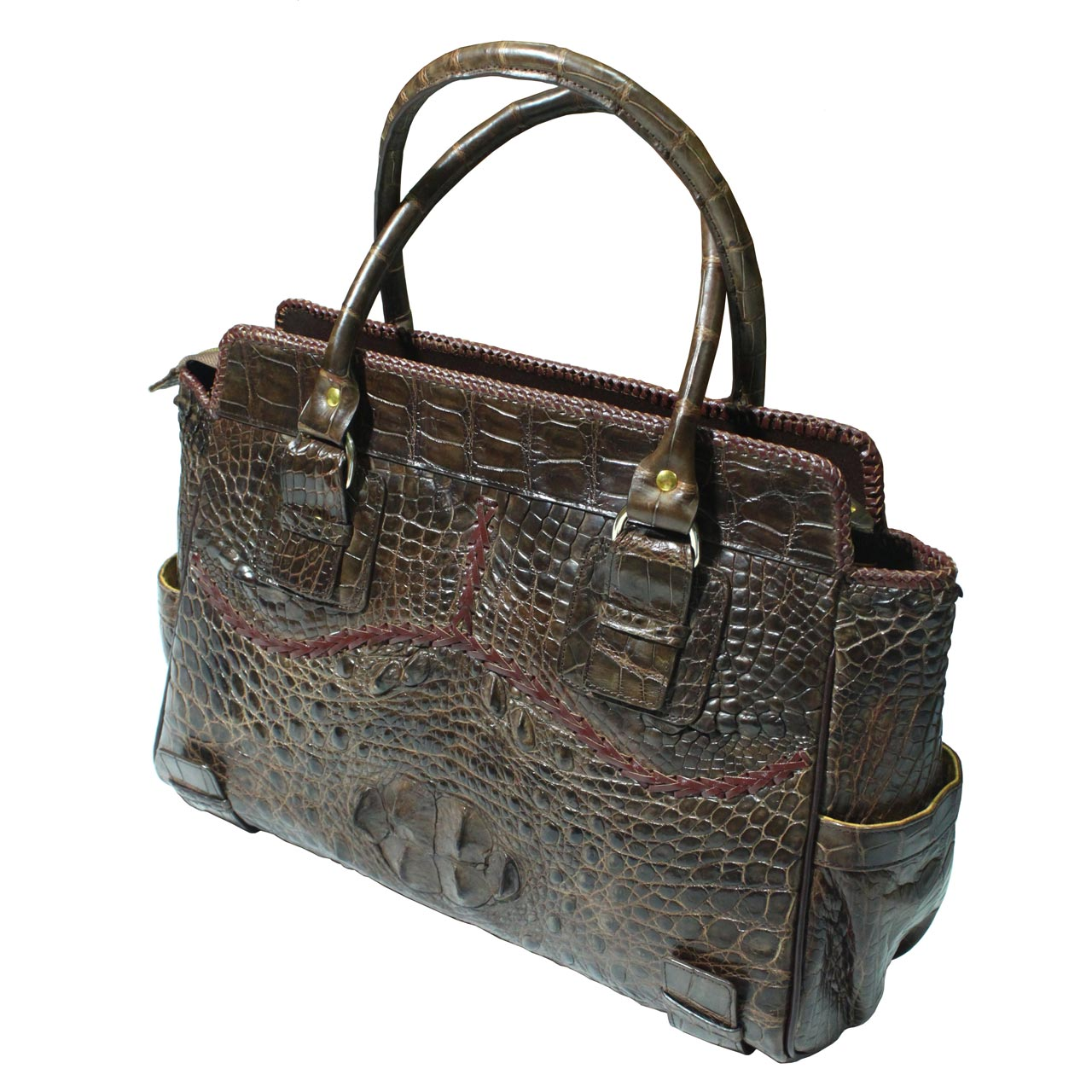 Crocodile Leather Handbag S022a
