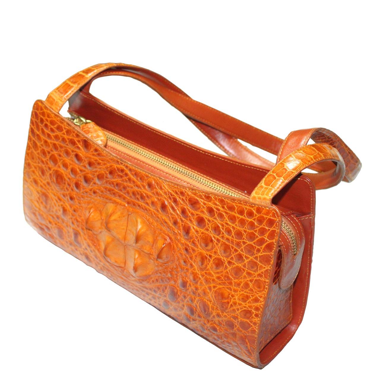Crocodile Leather Handbag S026b