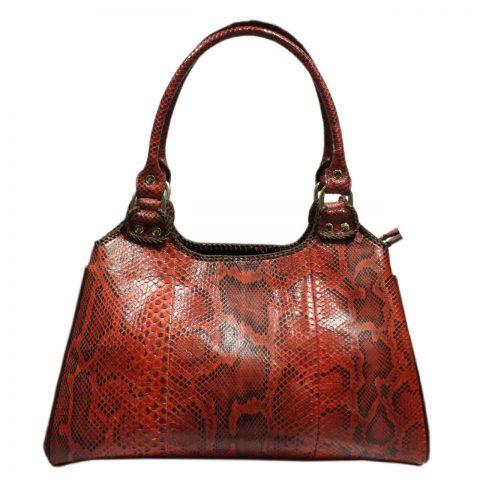 Python Leather Handbag T007b