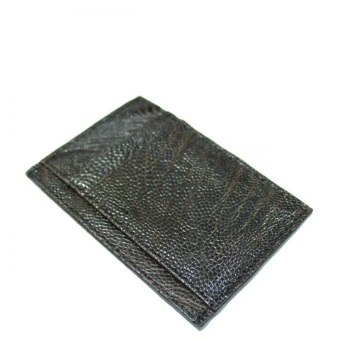 Ostrich Leather Card Wallet E963b