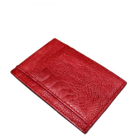 Ostrich Leather Card Wallet E963e