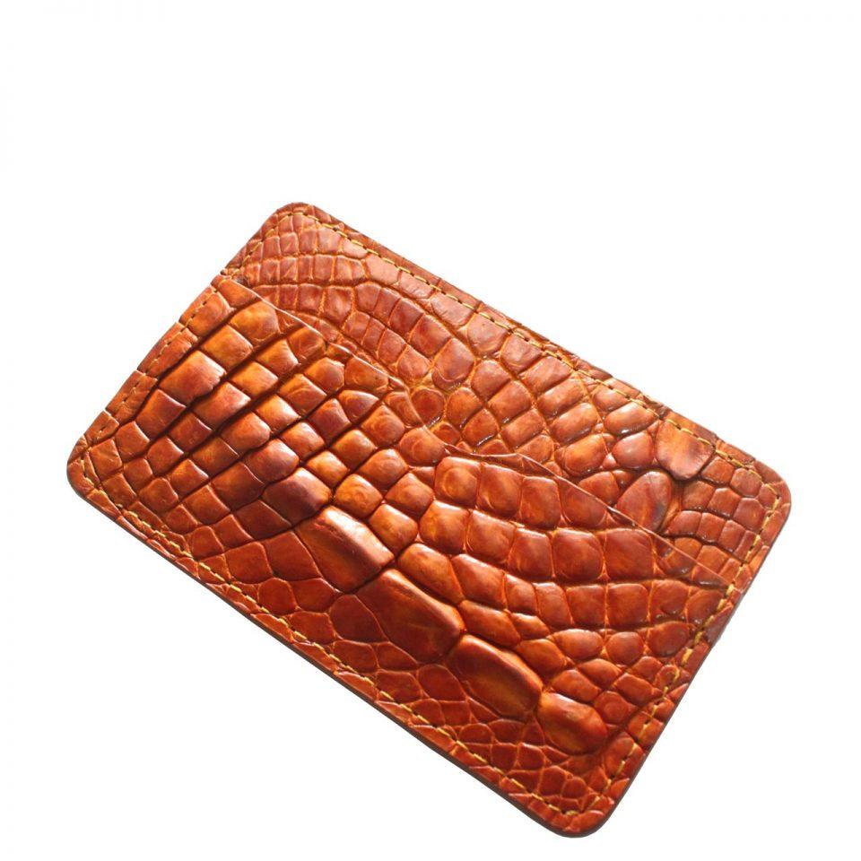 Ví Card Da Cá Sấu E962a