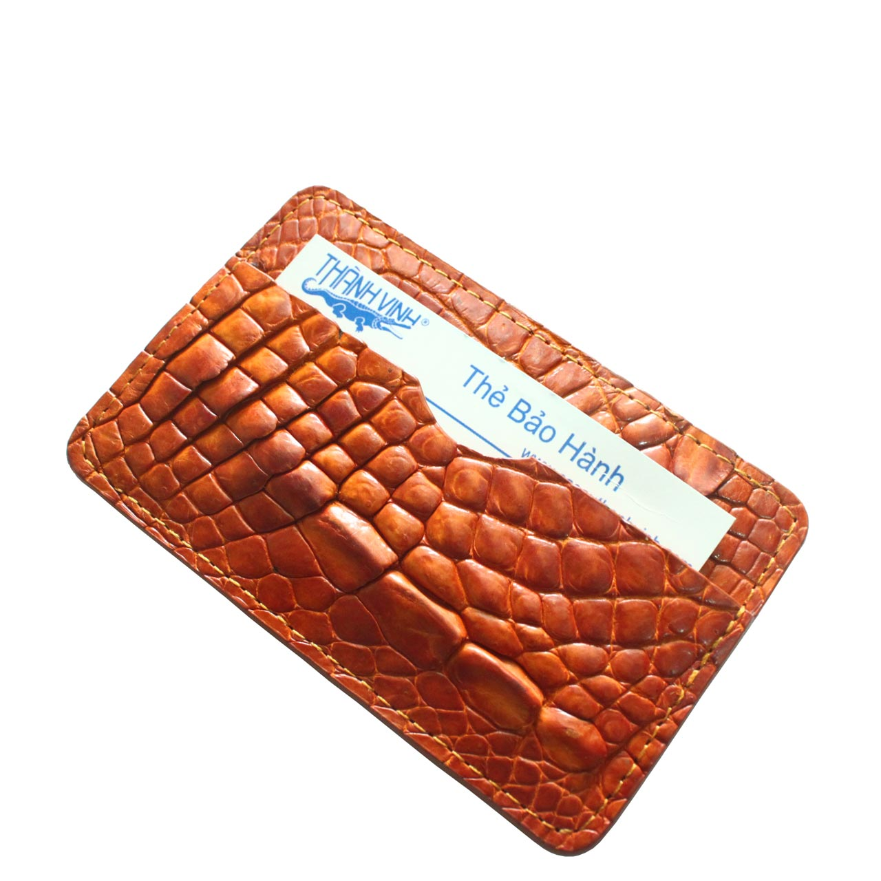 Crocodile Leather Card Wallet S962a