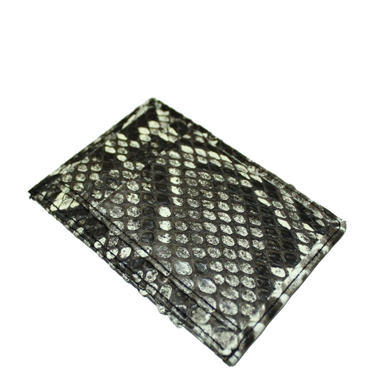Python leather card wallet T963a