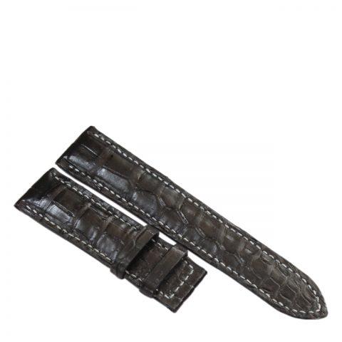 Dây đồng hồ da cá sấu may tay S910c