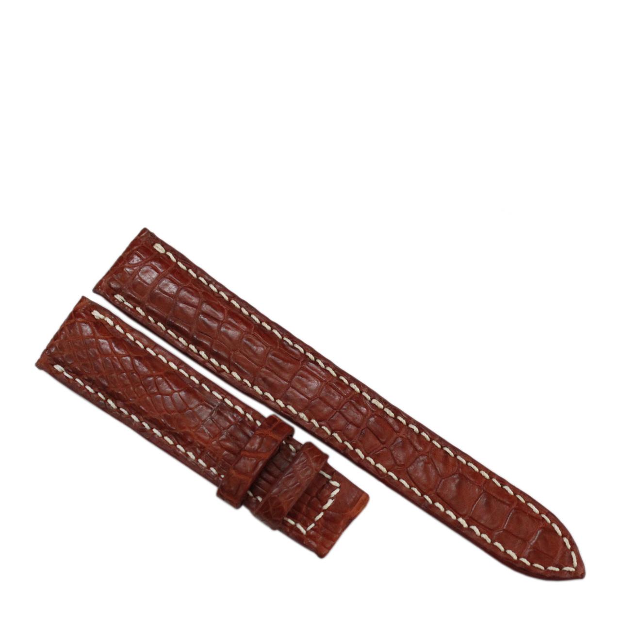 Dây đồng hồ da cá sấu may tay S911b