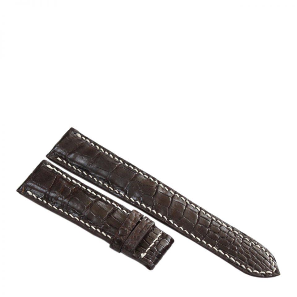 Dây đồng hồ da cá sấu may tay S912a