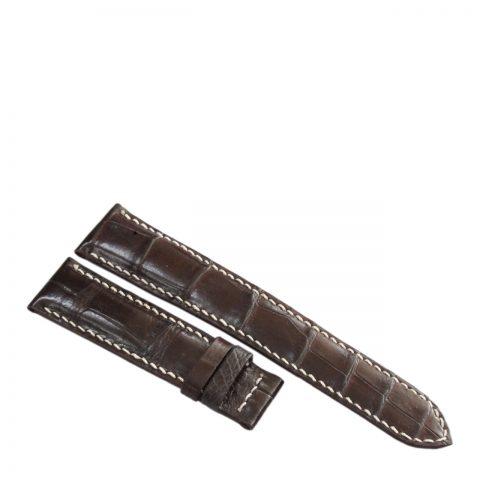 Dây đồng hồ da cá sấu may tay S912b