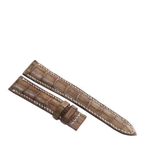 Dây đồng hồ da cá sấu may tay S913c