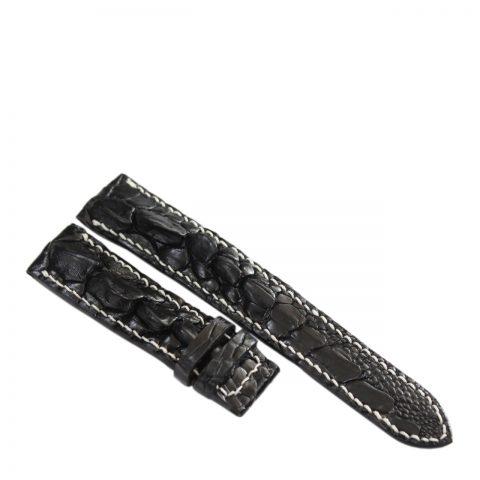 Dây đồng hồ da cá sấu may tay S931a