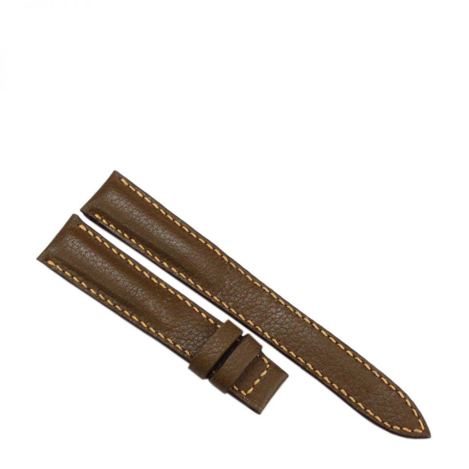 Dây đồng hồ nữ da bò may tay B981b