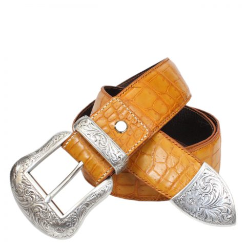 Crocodile leather handmade belt S614a