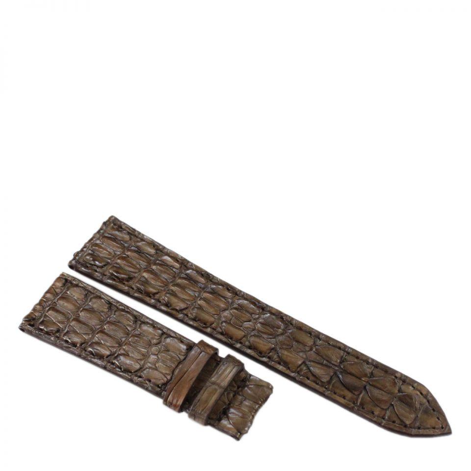 Dây đồng hồ da cá sấu S923a