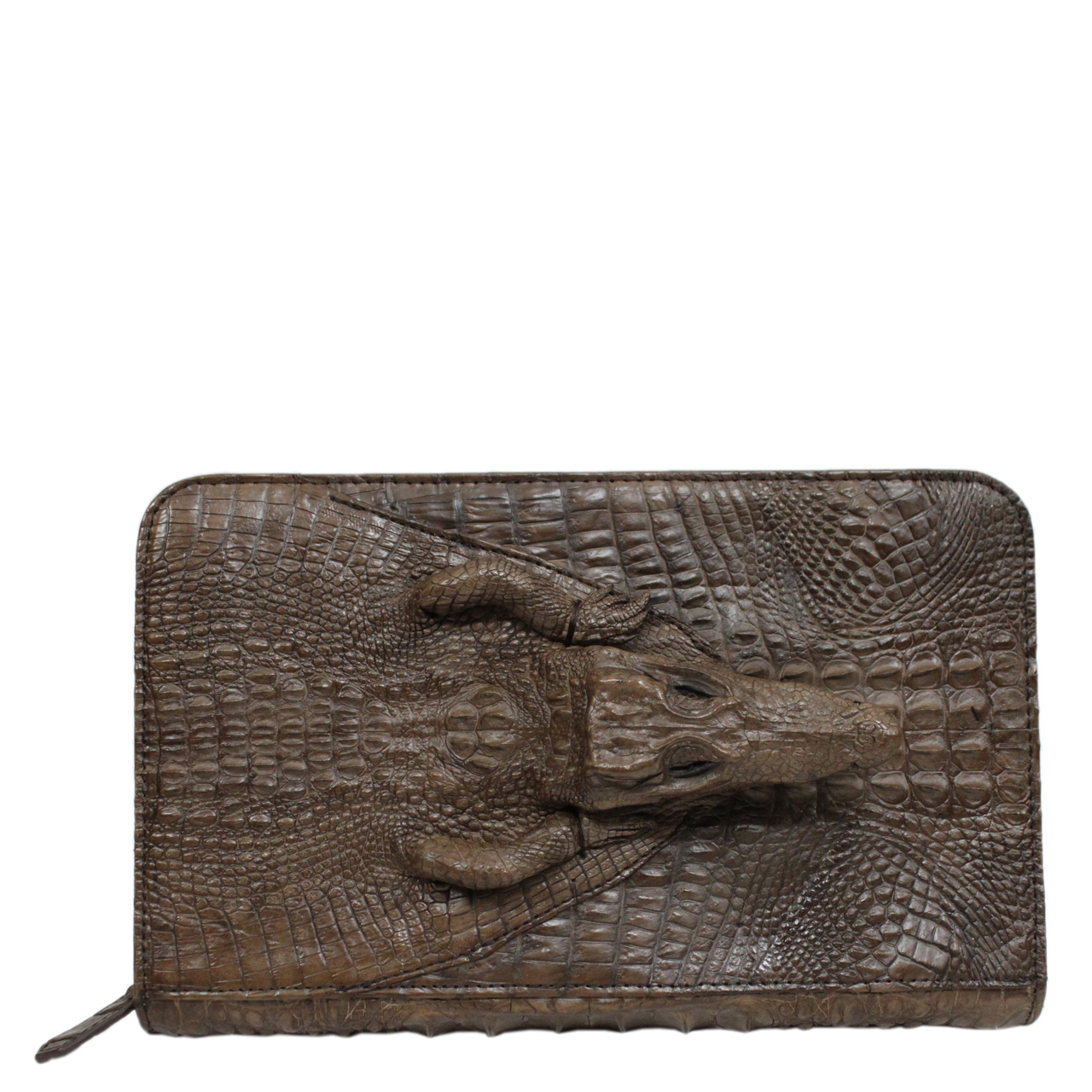 Ví dài cầm tay da cá sấu S483b