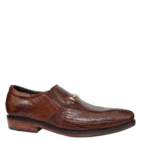 Ostrich leather shoes E866a