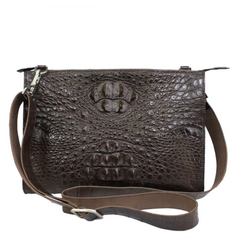 Crocodile leather crossbody bag S124a