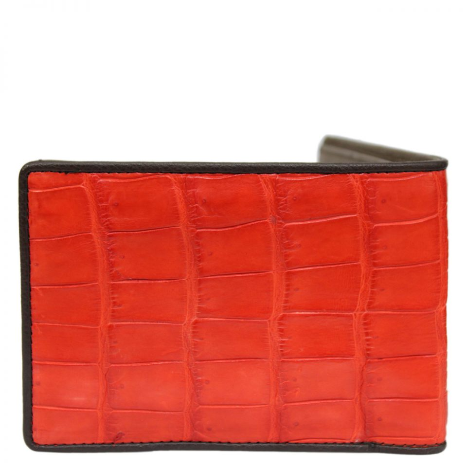 Crocodile leather wallet S413c